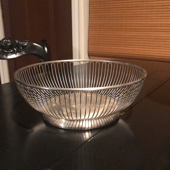 Vintage Stainless Wire Bread Basket